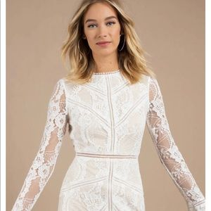 NWT Toni White Victoria Lace Shift Dress L
